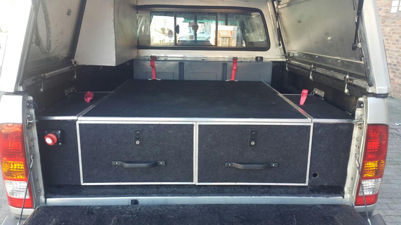 Toyota D Cab Drawer System Razorback Aluminium Canopies